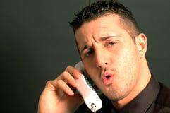 telefon för man för affär 2435 Royaltyfria Bilder