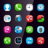 telefon för mobil för 2 applikationsymboler stock illustrationer