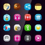 telefon för mobil för 3 applikationsymboler royaltyfri illustrationer