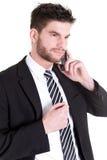 telefon för mobil för affärsman Royaltyfria Bilder
