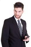 telefon för mobil för affärsman Royaltyfri Foto