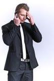 telefon för mobil för affärsman Royaltyfri Bild