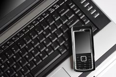 telefon för mobil för begreppsgprsbärbar dator Royaltyfria Bilder