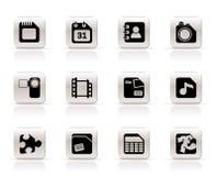 telefon för mobil för datorsymbolsinternet royaltyfri illustrationer