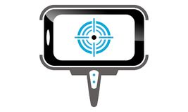 Telefon för pinneSelfie handtag royaltyfri illustrationer
