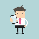 Telefon för show för affärsman smart vektor illustrationer