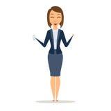 Telefon för shower för affärskvinna stock illustrationer