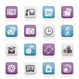telefon för symbolsmenymobil royaltyfri illustrationer