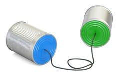 Telefon för tenn- can, tolkning 3D stock illustrationer