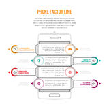 Telefon-Faktor-Linie Infographic Lizenzfreies Stockfoto