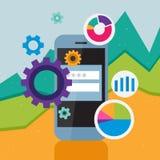 telefon för mobil för element för affärsdesign Royaltyfri Bild