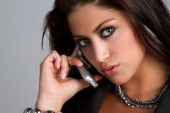 Telefon-Frau Stockfoto