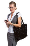 Telefon-Geschäftsfrau Stockbild