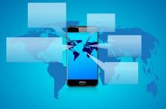 Telefon-Gesprächs-Sprache-Blasen Lizenzfreies Stockbild