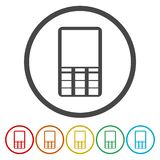 Telefon i en cirkel stock illustrationer