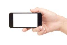 Telefon i hand Arkivbilder
