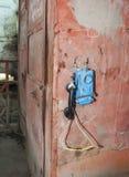 Telefon i kolgruva Arkivbilder