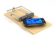 telefon i råttfälla Isolerad 3D royaltyfri illustrationer