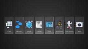 Telefon ikona dla mobilnych podaniowych zawartość Różnorodna podaniowa funkcja dla mądrze przyrządu Cyfrowego pokazu zastosowanie ilustracji