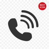Telefon ikona Rozmówcy ID ikona Nowożytny telefon w płaskim projekcie Symbol odizolowywający Smartphone wektor Dla mobilnych zast royalty ilustracja