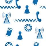 Telefon-Ikonen-Hintergrund stock abbildung