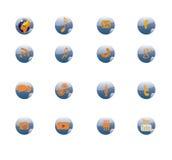 Telefon-Ikonen-Netzikone Lizenzfreies Stockfoto