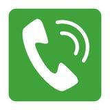 Telefon ikony wektorowy projekt Zdjęcia Stock