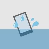 Telefon im Wasser Stockfotografie