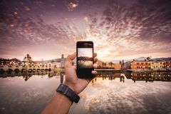 Telefon kamera Zdjęcie Royalty Free