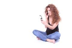 telefon kobieta Zdjęcie Stock