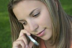 telefon kobieta Fotografia Stock