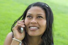 telefon kobieta Obrazy Royalty Free
