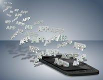 Telefon komórkowy apps royalty ilustracja