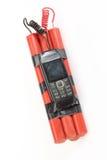 Telefon komórkowy bomba zdjęcie royalty free