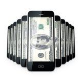 Telefon komórkowy dollas. Zdjęcie Stock