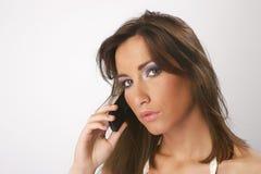 telefon komórkowy dziewczyny Obrazy Stock