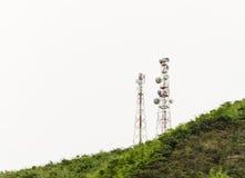 Telefon komórkowy i komunikacyjny górujemy zdjęcie stock