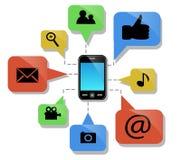Telefon komórkowy i swój cechy ilustracji