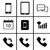 Telefon komórkowy (ikona ustawiająca) Fotografia Stock