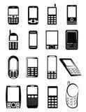 Telefon komórkowy ikony ilustracji
