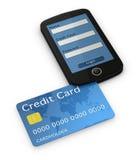 telefon komórkowy karciany kredyt Zdjęcie Stock