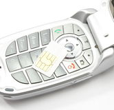 telefon komórkowy karciany sim Zdjęcia Royalty Free