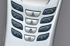 Telefon Komórkowy klucze Zdjęcie Stock