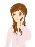 telefon komórkowy kobiety Zdjęcie Royalty Free