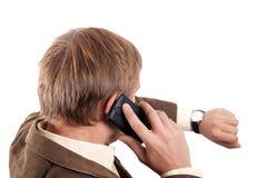 telefon komórkowy mężczyzna Obraz Royalty Free