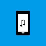 Telefon komórkowy muzyczna płaska ikona Zdjęcia Royalty Free