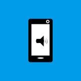 Telefon komórkowy muzyki dźwięka ikony paczki mieszkania ikona Fotografia Royalty Free