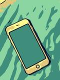 Telefon komórkowy na stole Fotografia Stock