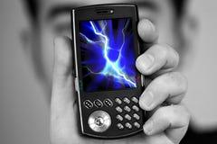 telefon komórkowy napromienianie Obrazy Royalty Free