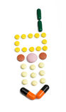 telefon komórkowy pigułek kształt Fotografia Stock